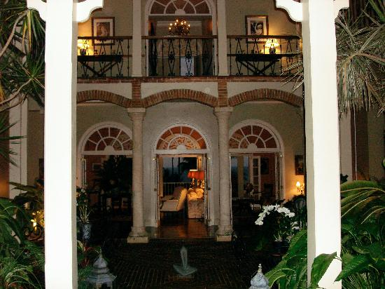 The Peninsula House: The interior garden of the house is open.
