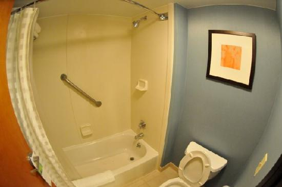 Hyatt Place OKC Airport: Shower and Toilet