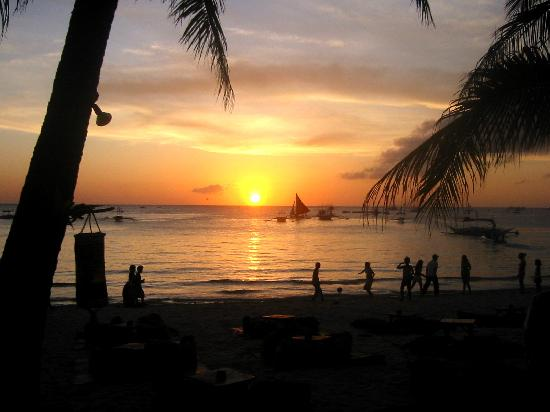 Sunset at White Beach