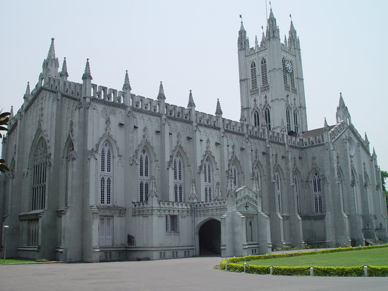 Καλκούτα, Ινδία: St. Paul's Cathedral church at kolkata