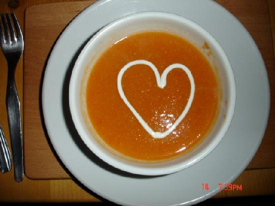 Riders Refuge - Chalet Carclion : Valentines evening soup - Food Glorious Food!