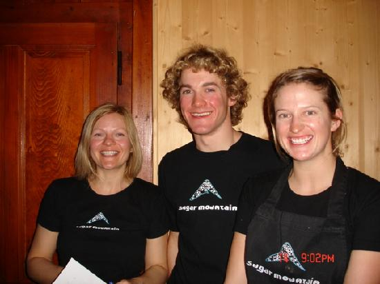Riders Refuge - Chalet Carclion : Vicky, Ollie and Vicky - a few of the friendly staff members