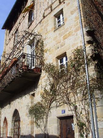 Figeac, France : la façade de la maison