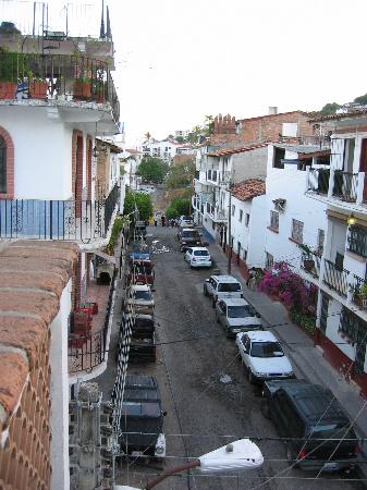 Villa David: view of the street from the balcony
