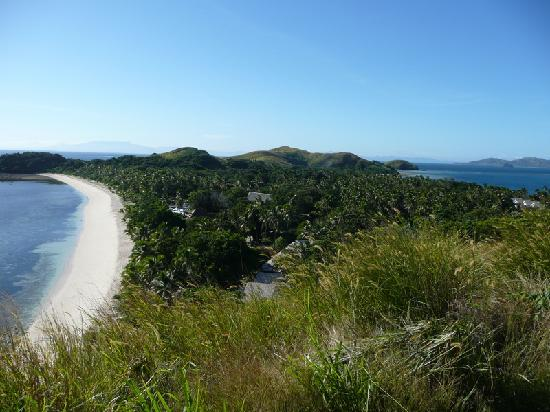 Mana Island Resort: the resort, south side.