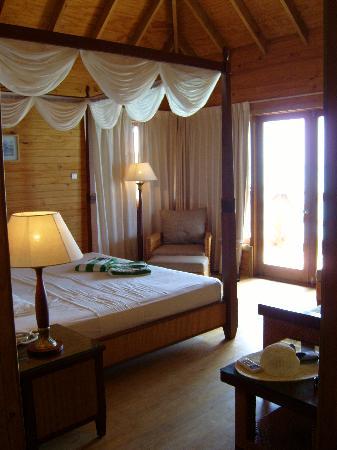 Fihalhohi Island Resort Interior Of Water Bungalow