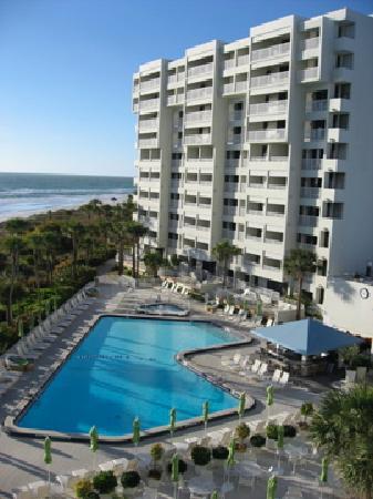 Resort at Longboat Key Club: Pool from 5th floor block 2  Feb 09
