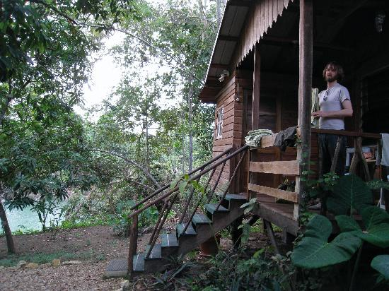 Iguana Junction: Our Cabin, Caracol, overlooking the river
