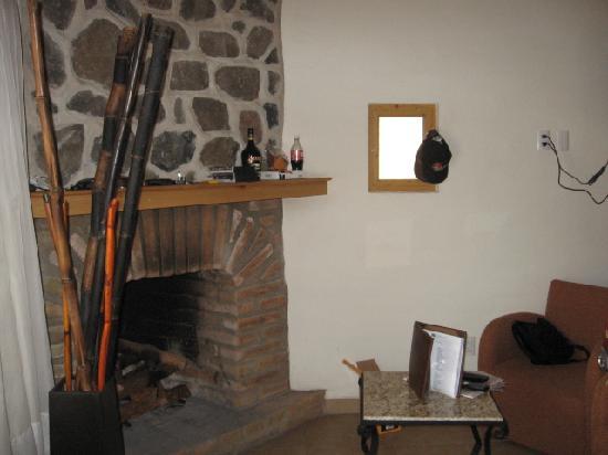 Hotel Bosque Escondido : La chimenea, que rico