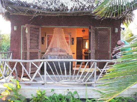 Ak'bol Yoga Retreat & Eco-Resort: The view into our room from our hammock