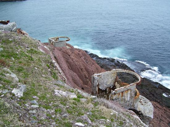 Fort Amherst Lighthouse: World War II structure remnants