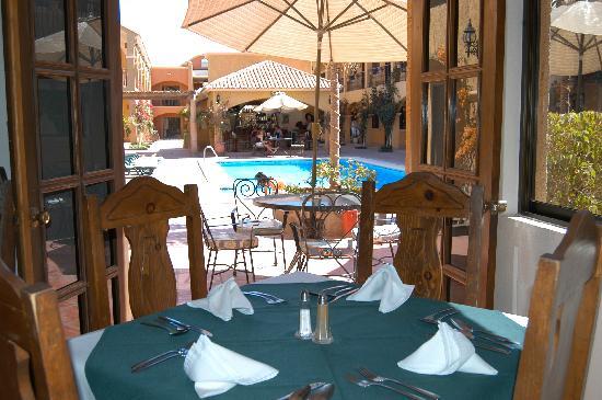 Hacienda Suites: Vista desde el restaurant Rancho Viejo