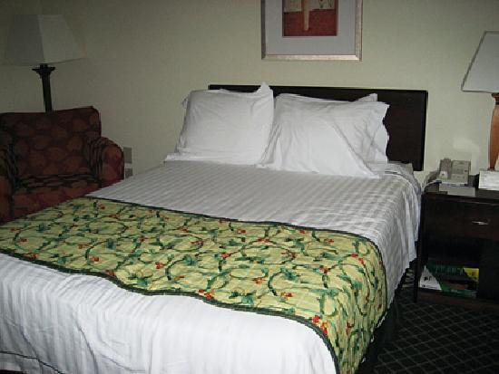 Fairfield Inn & Suites Jacksonville: Our double bed