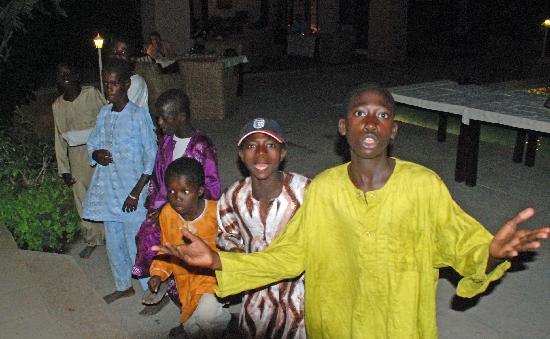 Brufut, Gambia: New Year's Eve entertainment - local dancers