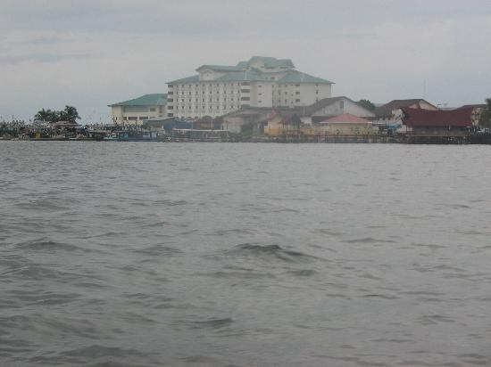 View of Seafest Hotel from Diveboat