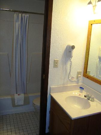 Americas Best Value Inn Grand Forks: Room 154 bathroom