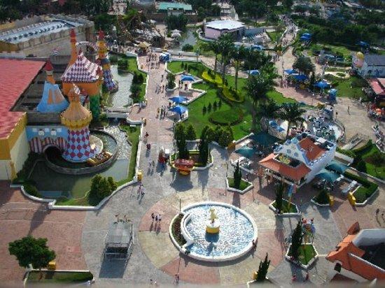 Hopi Hari: view from the Ferris wheel