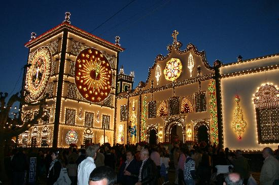 Ponta Delgada, Portugal: Church at Night Feast of Santo Cristo
