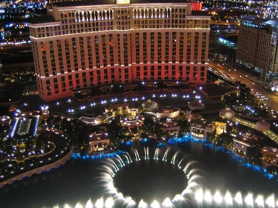 Bellagio Fountains from the Eiffel Tower