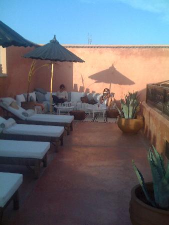 Zamzam Riad: so relaxing on the terrace
