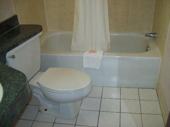 Howard Johnson Express Inn - Tampa North/Busch Gardens: Bathroom was clean (no booger pic, sorry)