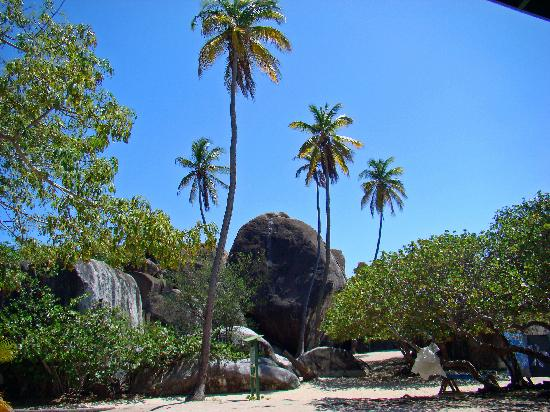 At the end of the hike, this is the entrance to the beach and to the Baths boulders