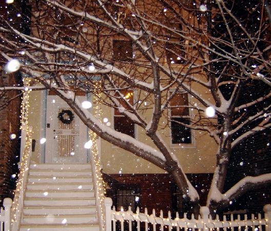 Lincoln Park Guest House: It snowed...but was very pretty