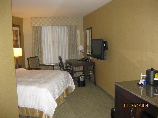 Hilton Garden Inn New York/Tribeca: Photo from entry door into room, King bed