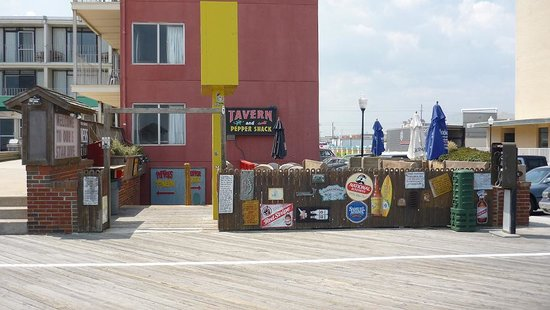 Peppers Tavern - right on the boardwalk. Pic taken last year.