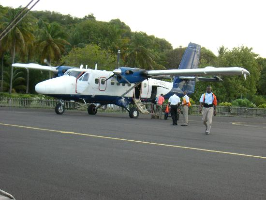 The Cotton House: Plane from Barbados