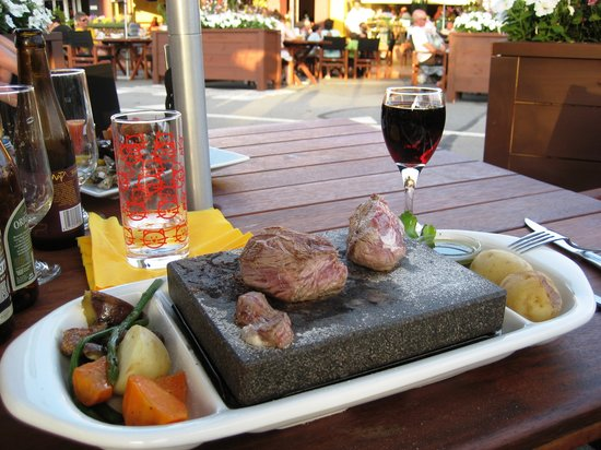 Triple 1 Five Restaurant: Stone grilled meat & wine