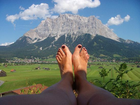 Lermoos, Österrike: la vue de la piscine