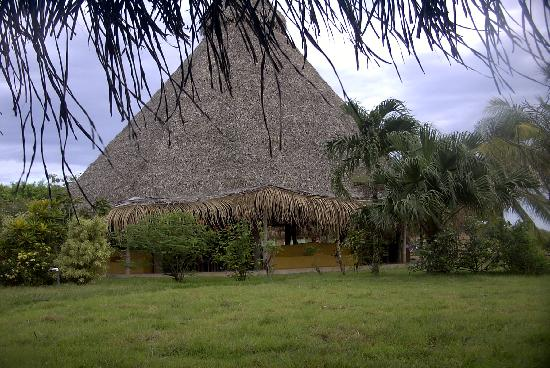 Hotel Playa Negra: the restaurant from the hammocks