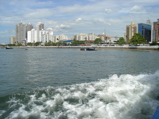 Leaving Guaruja going to Santos on the ferry boat.