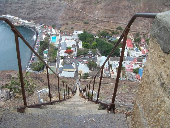 St Helena, Ascension and Tristan da Cunha: Jacob's Ladder - from the top