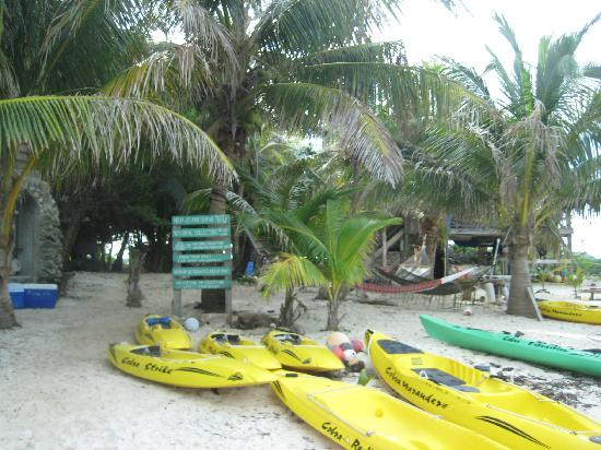 Glover's Atoll Resort: Kayaks and Main House