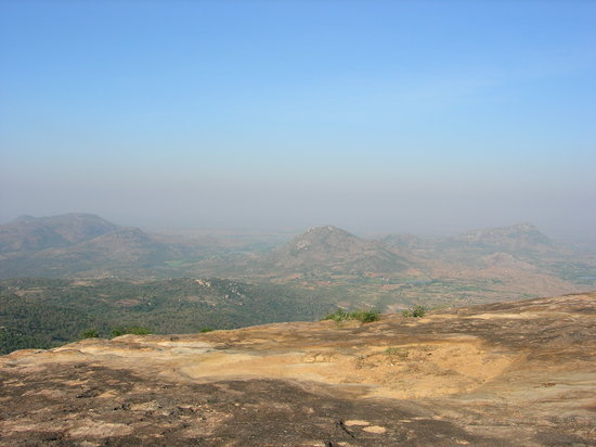 Chittoor, India: A landscape scene from wind hills in Horsley Hills
