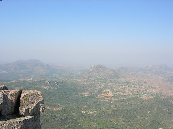 Chittoor, Índia: Landscape scenic view from Horsley Hills