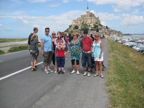 La Ferme de la Baie : Some of us at Le Mont St. Michel