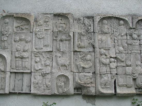Шеки, Азербайджан: Interesting wall decoration in Sheki