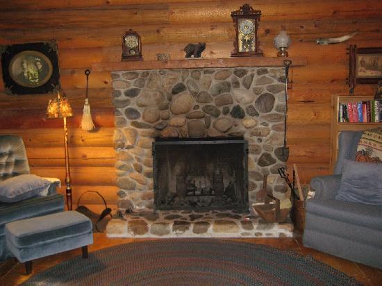 Guest House Log Cottages: Living Room