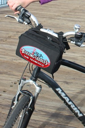 Blazing Saddles Bike Rentals and Tours : The zippered back on front was handy for wallets, cameras, a light jacket, etc.