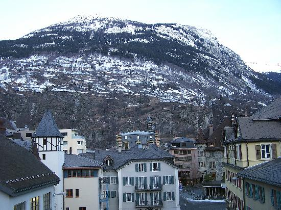 Hotel Simplon: the view from our balcony