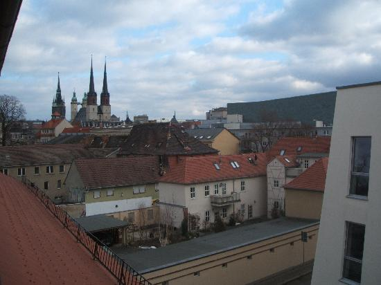 Halle an der Saale, Tyskland: View from the window