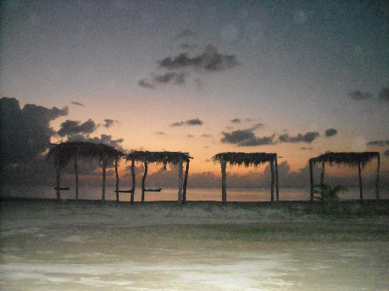 Martha's Bed and Breakfast: our beach at sunset