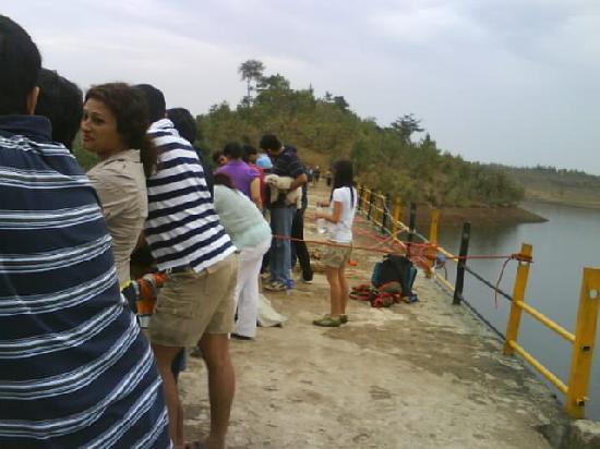 Divekarwadi Vikramgadh : kayaking done in nearby lake