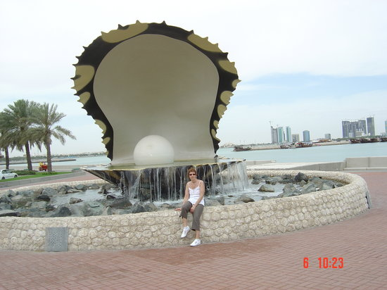 Ντόχα, Κατάρ: moi devant la perle