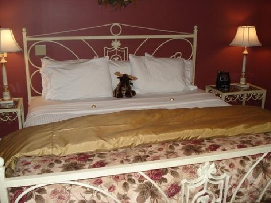 Stone Hill Inn : A stuffed moose and chocolate to greet us.
