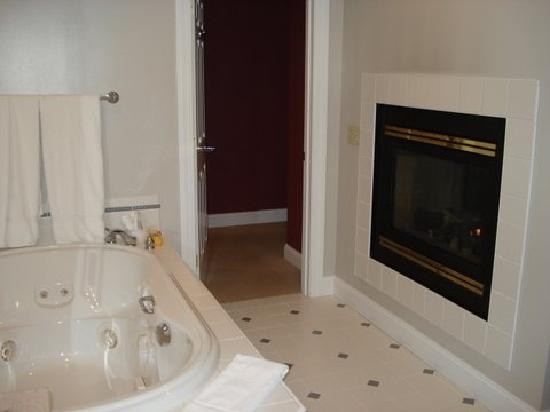 Stone Hill Inn : Jacuzzi and gas fireplace - VERY cozy!