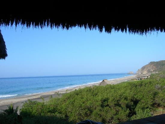 El copal: view from the restaurant (we saw manta-rays from there!)